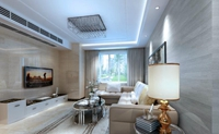 上城骏园-99平米-三居室-现代简约风格龙8国际pt老虎机效果图 (5)
