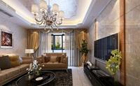 西城美苑-110平米-三居室-新奢华风格龙8国际pt老虎机效果图 (6)