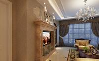 银座花园120平米三居室欧式古典风格龙8国际pt老虎机效果图 (5)