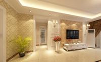 匡山小区126平米三居室现代欧式风格龙8国际pt老虎机效果图 (4)