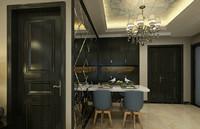 园艺小区—88平米—两居室—新中式龙8国际pt老虎机效果图 (4)