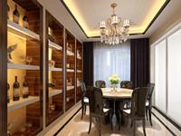 长光小区—134平米—三居室—新中式装修效果图 (4)