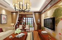 匡山小区—130平米—三居室—新中式装修效果图 (5)