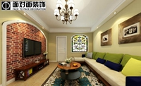 银座花园-120平米-三居室-田园风格装修效果图 (7)