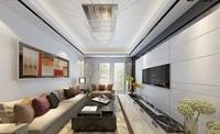 永胜小区-95平米-二居室-现代简约风格龙8国际pt老虎机效果图 (7)