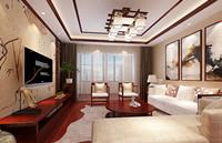 开泰花园小区—140平米—三居室—新中式装修效果图 (5)