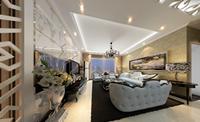 长虹小区127平米三居室美式风格龙8国际pt老虎机效果图 (4)