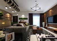 梦园小区-127平米-三居室-混合型风格龙8国际pt老虎机效果图 (11)