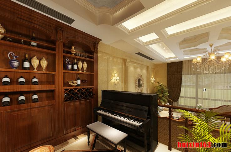 红云度假村240平米二居室欧式风格装修效果图--钢琴