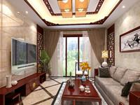 宝和花园—139平米—三居室—新中式乐虎国际登陆效果图 (4)