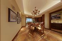 东岗家园128平米三居室美式风格装修效果图 (5)