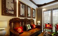 名雅花园—65平米—两居室—新中式龙8国际pt老虎机效果图 (5)