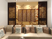 花城广场—80平米—两居室—新中式装修效果图 (3)