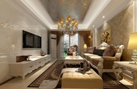 花城广场-126平米-三居室-欧美风情装修效果图 (5)