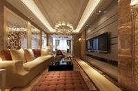 花园星河城-92平米-三居室-新奢华主义风格装修效果图 (6)