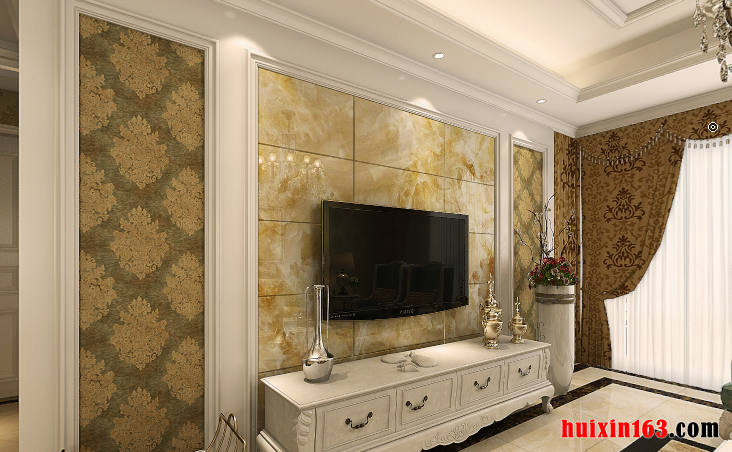 興越小區107平米三居室歐式風格裝修效果圖