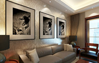 香江天第园—95平米—三居室—新中式装修效果图 (4)