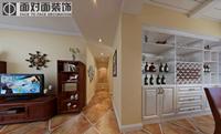 学府•雅居128平米三居室美式风格装修效果图 (3)