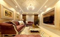 东岗家园-143平米-三居室-欧美风情龙8国际pt老虎机效果图 (6)