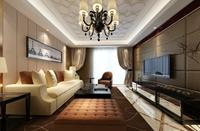 金宝花园-145平米-三居室-现代奢华风格装修效果图 (6)