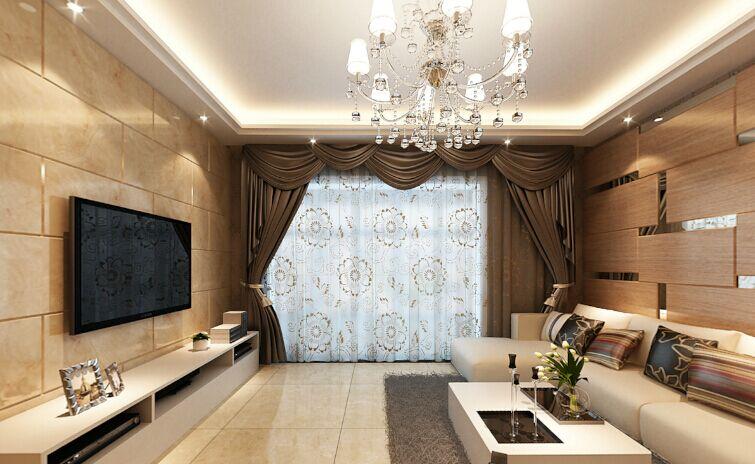 金笔街小区-110平方米-三居室-后现代风格龙8国际pt老虎机效果图 (5)