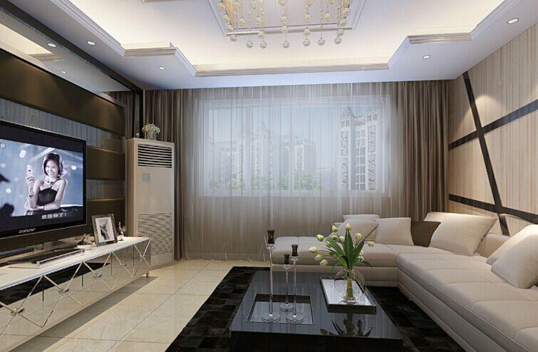 东岗家园小区-120平方米-三居室-后现代风格装修效果图 (4)
