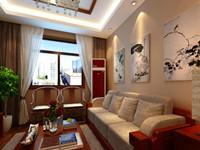 古都绿城—81平米—两居室—新中式装修效果图 (4)