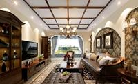 汇锦峰-130平米-三居室-美式乡村风格风格龙8国际pt老虎机效果图 (5)