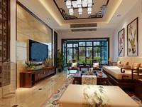 九龙新苑—140平米—三居室—新中式装修效果图 (3)