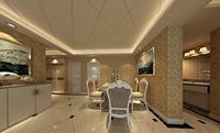 水岸公馆117平米三居室欧式风格装修效果图 (4)