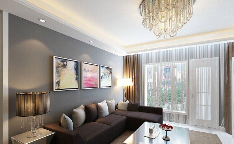 九龙御岸小区-88平方米-二居室-后现代风格装修效果图 (4)