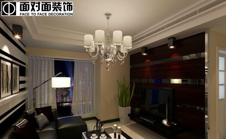 繁荣新都小区-92平方米-三居室-后现代风格龙8国际pt老虎机效果图 (4)