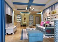 管宁小区-99平米-三居室-地中海风格装修效果图 (4)