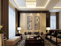 休宁风华—249平米—别墅—欧式风格装修效果图 (5)