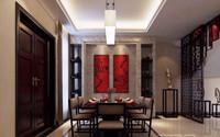 桃花岛—200平米—别墅—中式风格装修效果图 (2)