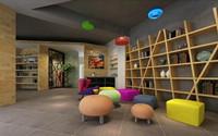 华林家园—130平米—三居室—现代简约装修效果图 (3)