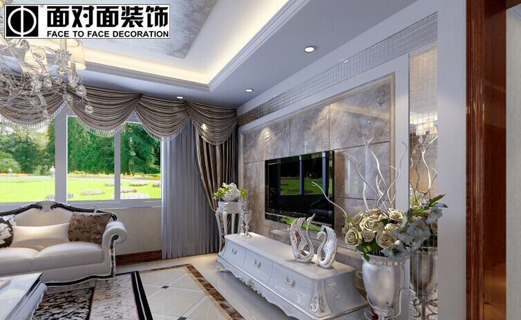 紫晶悦城小区-130平方米-三居室-后现代风格装修效果图 (4)