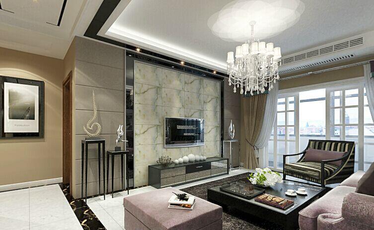 中基礼域小区-137平方米-三居室-后现代风格装修效果图 (4)