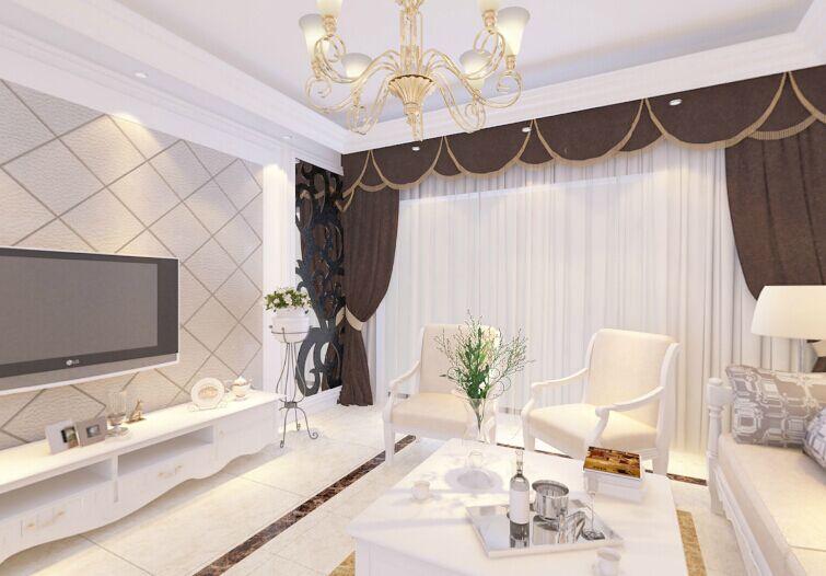 项王小区-140平方米-三居室-后现代风格乐虎国际登陆效果图 (4)