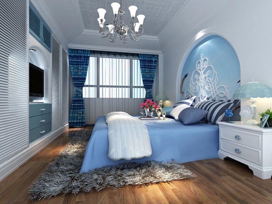 房管所家属院-98平米二居室地中海风格风格效果图 (6)
