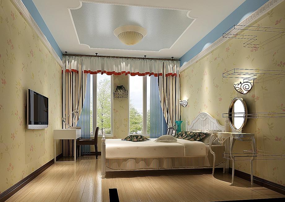 纺织品家属院-89平米二居室田园风格效果图 (5)