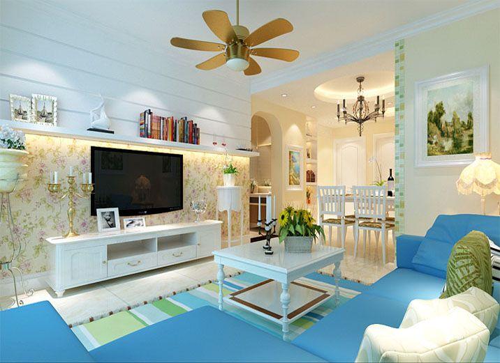 翰林国际-91平米二居室田园风格效果图 (5)