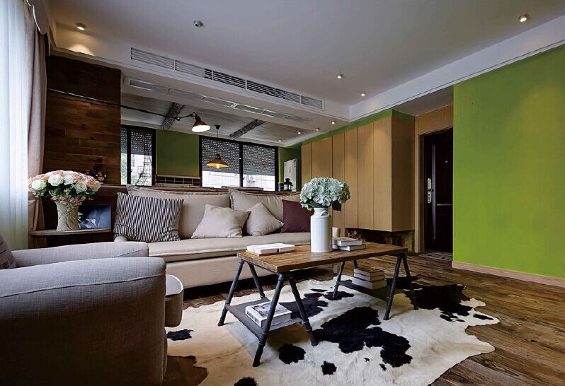 尾山小区-120平方米-三居室-现代简约风格装修效果图 (6)