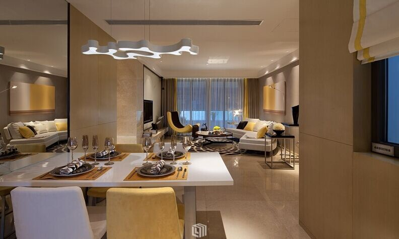 金寿小区-110平方米-二居室-现代风格装修效果图 (8)