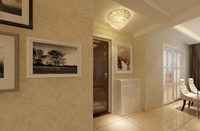 蔚蓝国际127平米三居室现代欧式风格乐虎国际登陆效果图 (5)