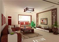 新美帝景88平米二居室中式风格装修效果图 (5)