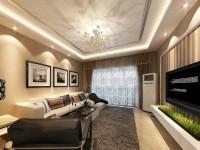 鸿禧·西城都荟-97平米三居室-现代简约龙8国际pt老虎机效果图 (5)
