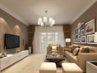 英伦豪城-140平米三居室-现代简约装修效果图 (5)