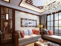 英伦豪城-110平米三居室-现代中式龙8国际pt老虎机效果图 (5)