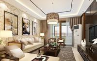 福苑小区—123平米—四居室—中式乐虎国际登陆效果图 (4)